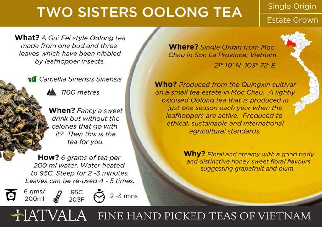 Two Sisters Oolong Tea Vietnam Card