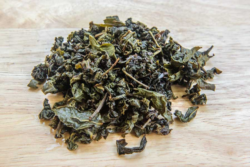 Three Moons Oolong Tea Wet Leaves