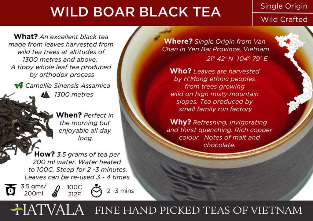 Wild Boar Black Tea Card