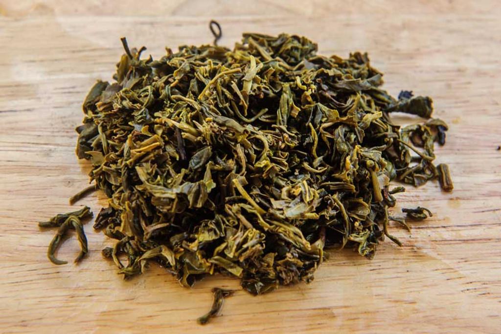 Autumn Jade Jasmine Tea Vietnam Wet Leaves