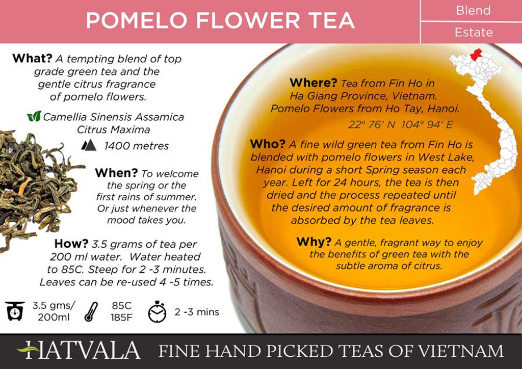 Pomelo Flower Tea Vietnam Card