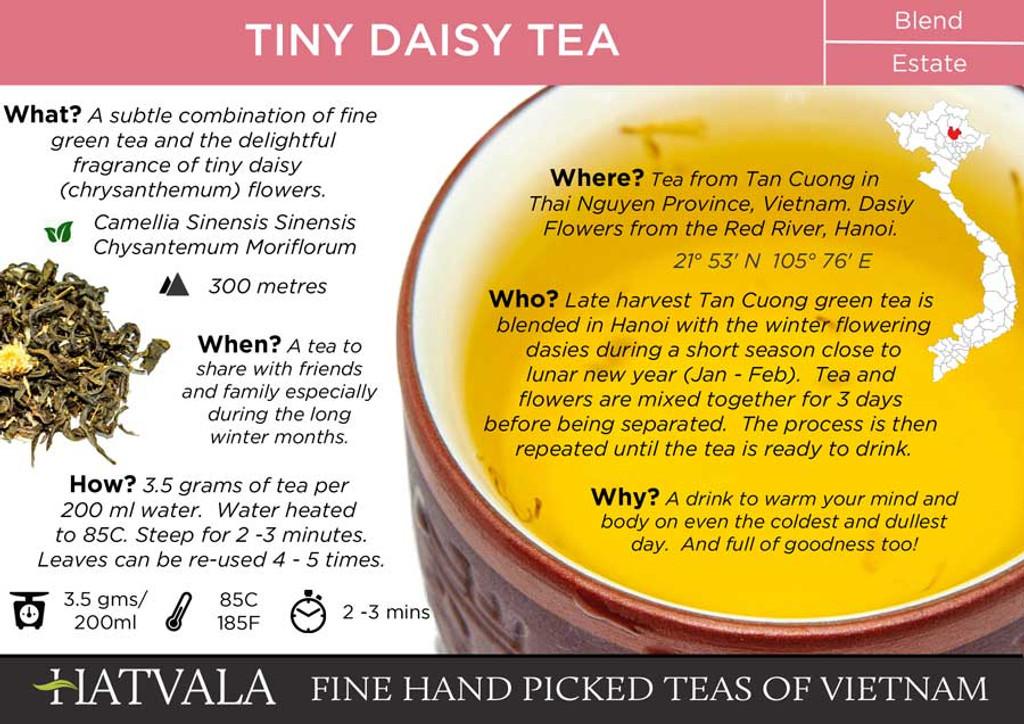 Tiny Daisy Tea Vietnam Card