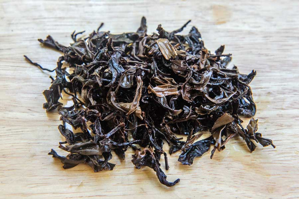 Dragon's Breath Oolong Tea Wet Leaves