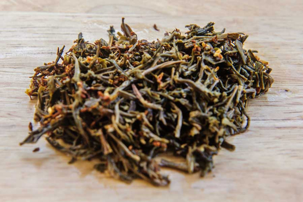 Sweet Osmanthus Tea Wet Leaves