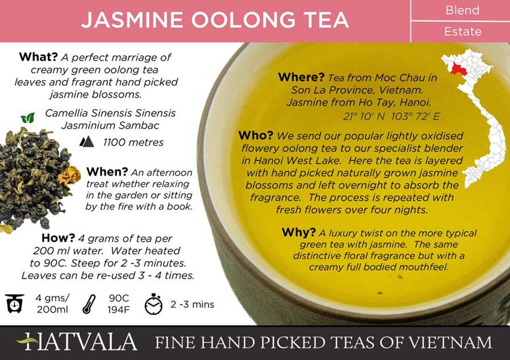 Jasmine Oolong Tea Card