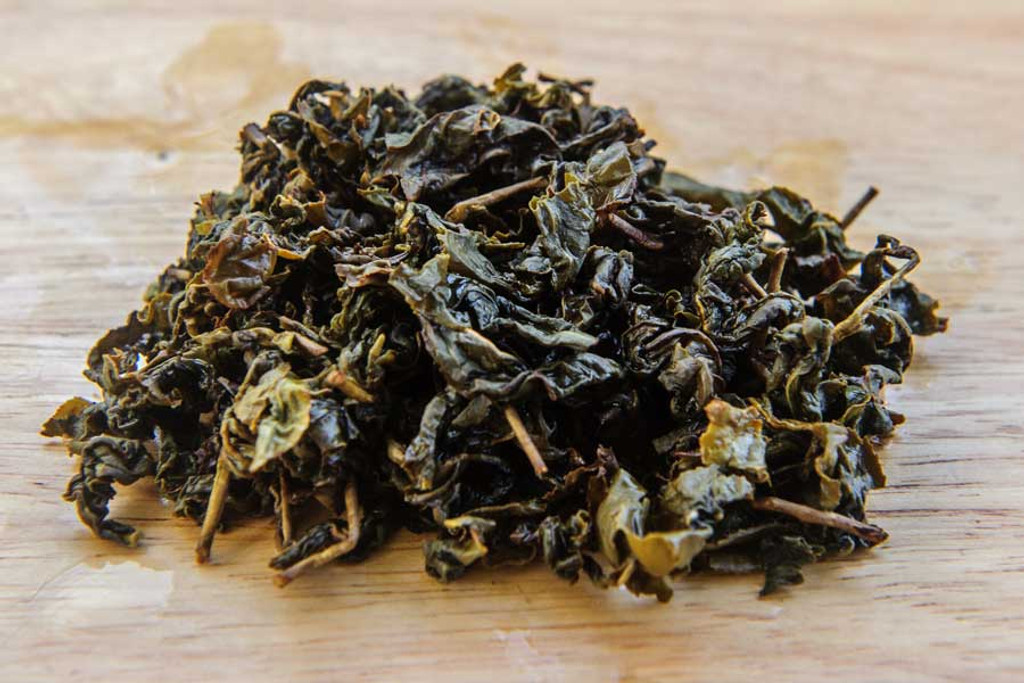 Jasmine Oolong Tea Wet Leaves