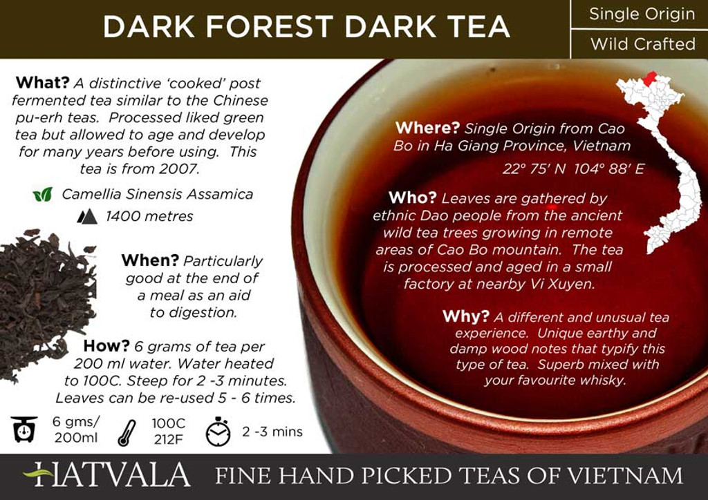 Dark Forest Dark Tea Card