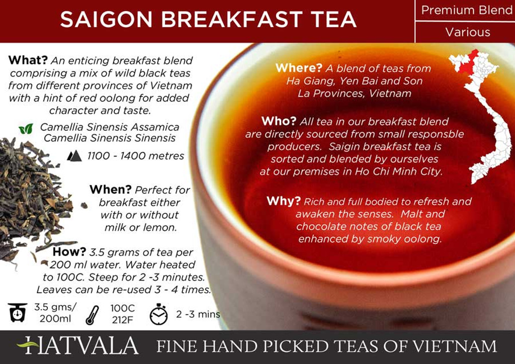 Saigon Breakfast Tea Card