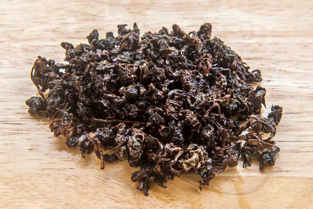 Golden Turtle Oolong Tea Vietnam Wet Leaves