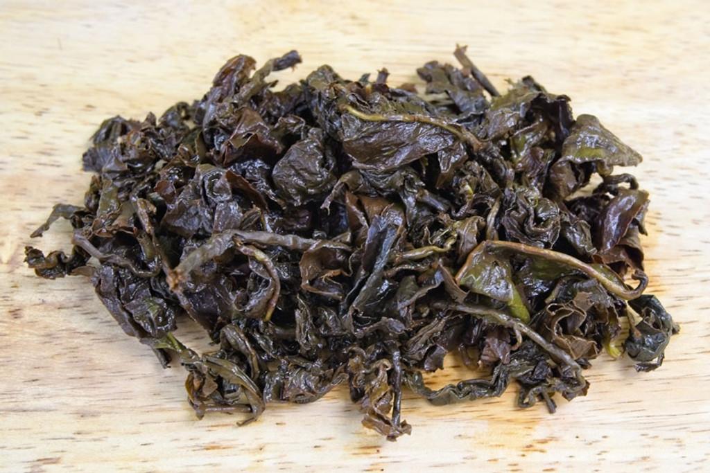 Sun Bear Oolong Tea Wet Leaves