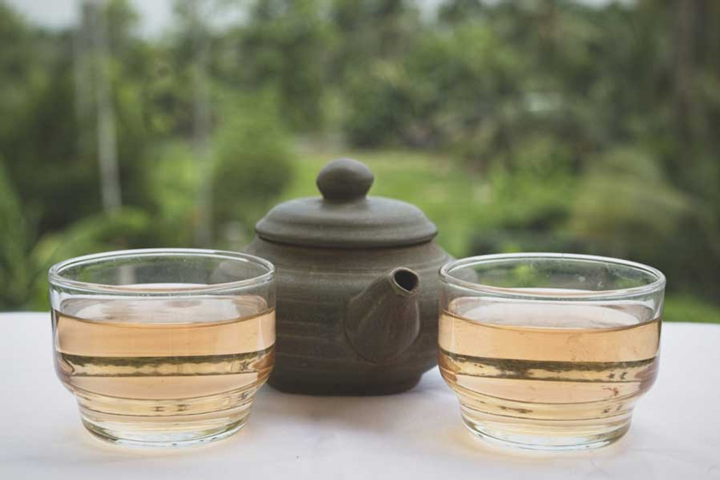 Blushing Moon Green Tea Pot Cups