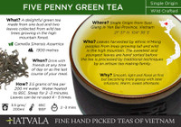 Five Penny Green Tea, Vietnam Card