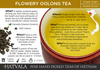 Flowery Oolong Tea Card