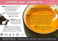 Autumn Jade Jasmine Tea Vietnam Card