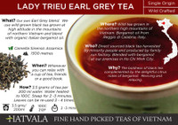 Lady Trieu Earl Grey Tea Vietnam Card