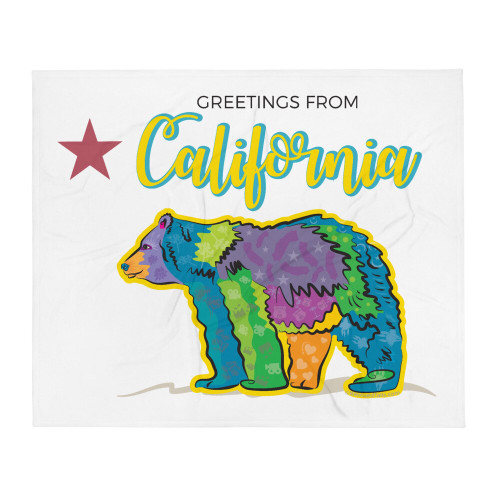 California Bear Throw Blanket