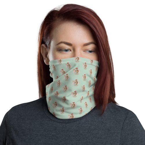 Joshua Tree Tortoise Face Mask, ligth sage
