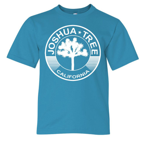 Joshua Tree Teal Kids T shirt