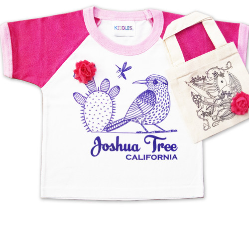 Joshua Tree California Girl's Toddler Set  Art by local artist: Sherri Sullivan