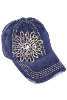 Denim Bling Baseball Cap