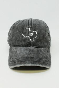 Stone Washed Black Texas Cap