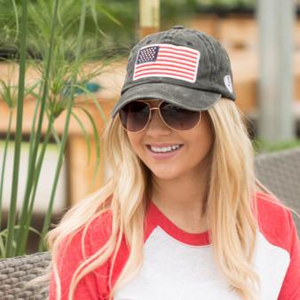 USA Flag Embroidery Cap