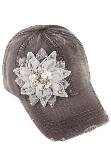 Bling Flower Baseball Cap