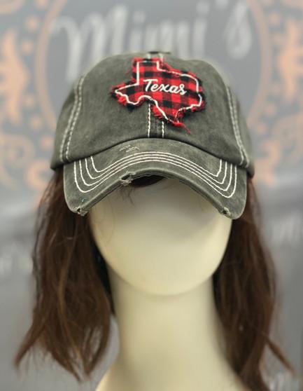 Buffalo Plaid Texas Cap