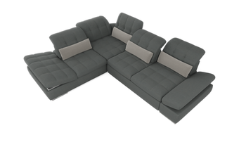 Barcelona 4 pc Right Arm Sofa bed   Grey Sectional with storage  By Sofacraft