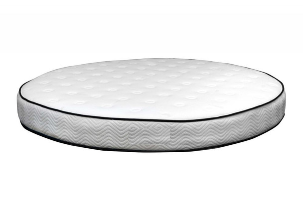 "Double - sided , rotatable , 84"" round high density mattress ,12"" high"