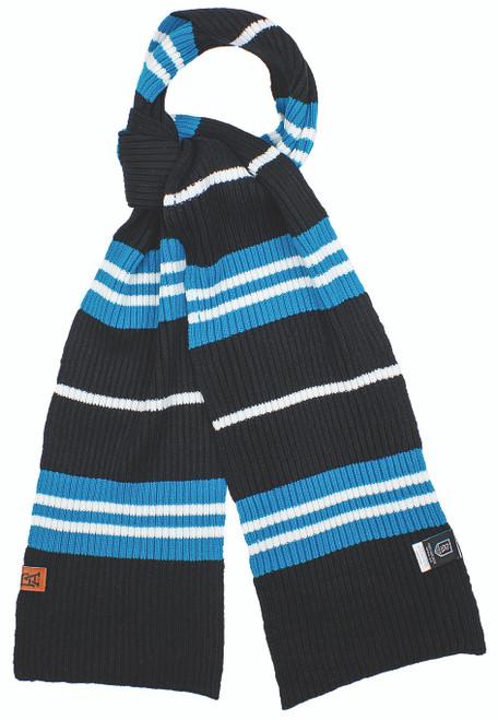 Port Adelaide Rib-Knit Scarf