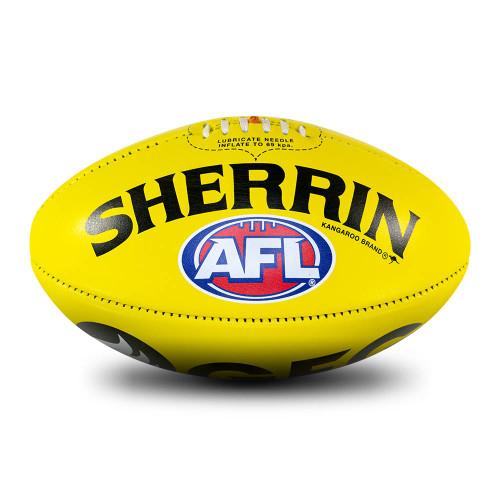 Port Adelaide Sherrin Yellow AFL Team Gameball