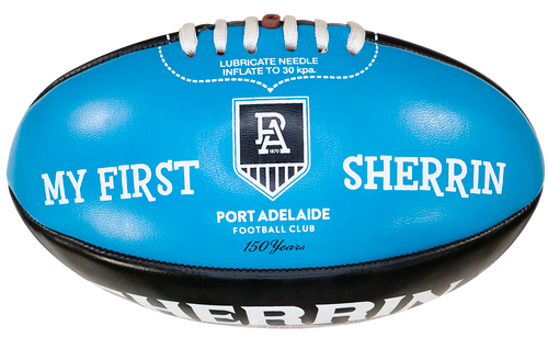 Port Adelaide Sherrin AFL My First PVC 20cm