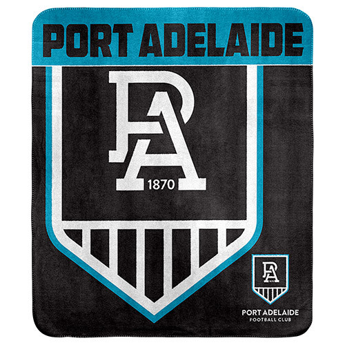 Port Adelaide Polar Fleece Rug