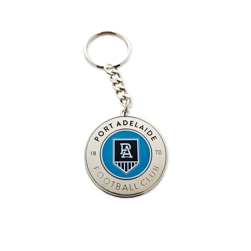Port Adelaide Secondary Logo Keyring