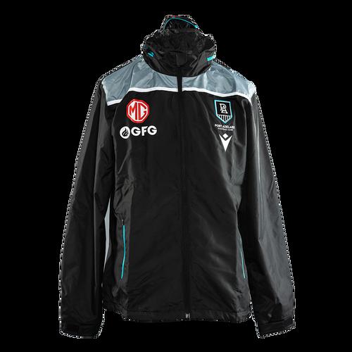 Official Port Adelaide Macron 2021 Travel Shower Jacket