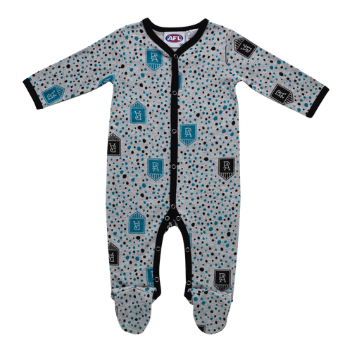 Port Adelaide W21 Baby Coverall