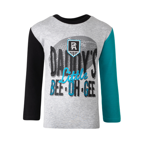 Port Adelaide Toddler Long Sleeve Tee