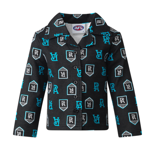 Port Adelaide Toddler Flannelette PJ Set