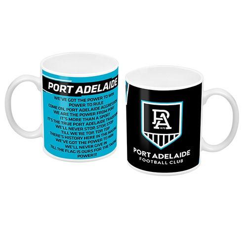 Port Adelaide Logo and Song Mug