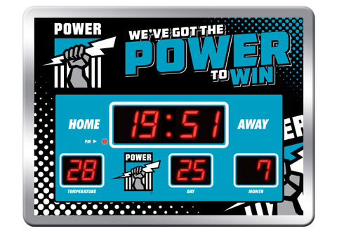 Port Adelaide LED Scoreboard Clock with calendar and temperature display