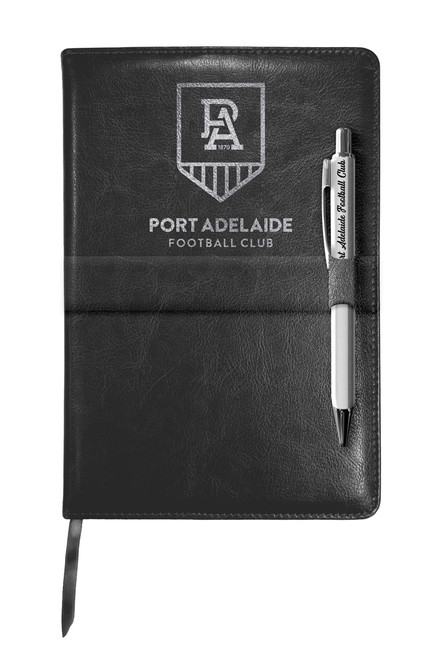 Port Adelaide Notebook and Pen Gift Set