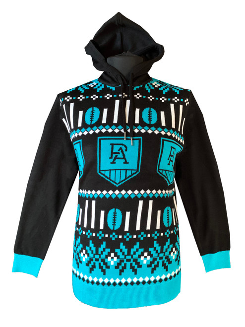 Port Adelaide Mens Ugly Hooded Sweater