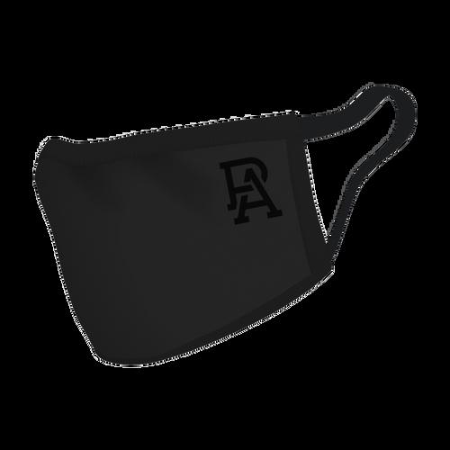 PA Monogram Black Face Mask