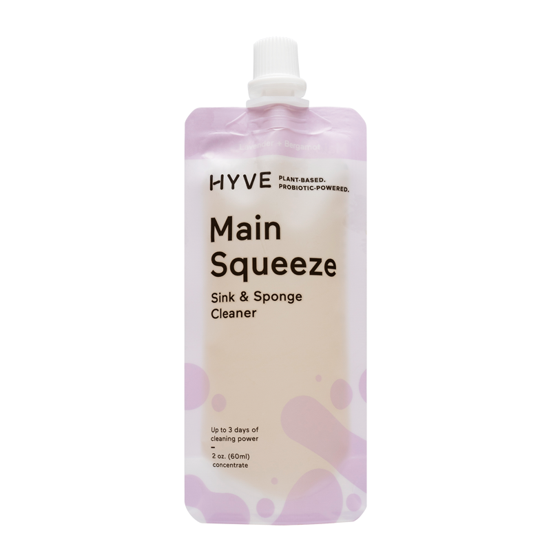 Main Squeeze cleaner.  Natural, plant-based and filled with probiotics to keep you sink and sponge protected