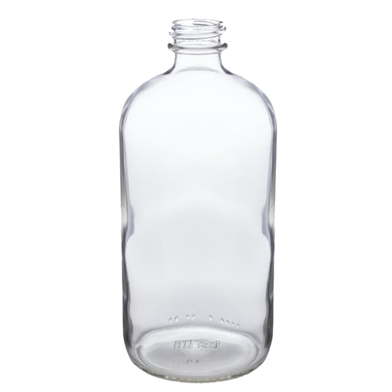 16 oz boston round glass bottle