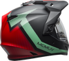 BELL MX-9 ADVENTURE SNOW W/ELECTRIC SHIELD SWITCHBACK MATTE BLACK/BLUE/RED