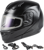 GMAX MD-04S Modular Snow Helmet W/Electric Shield Black