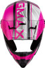 GMAX MX-46Y Mega Off-Road Youth Helmet Matte Black/Neon Pink