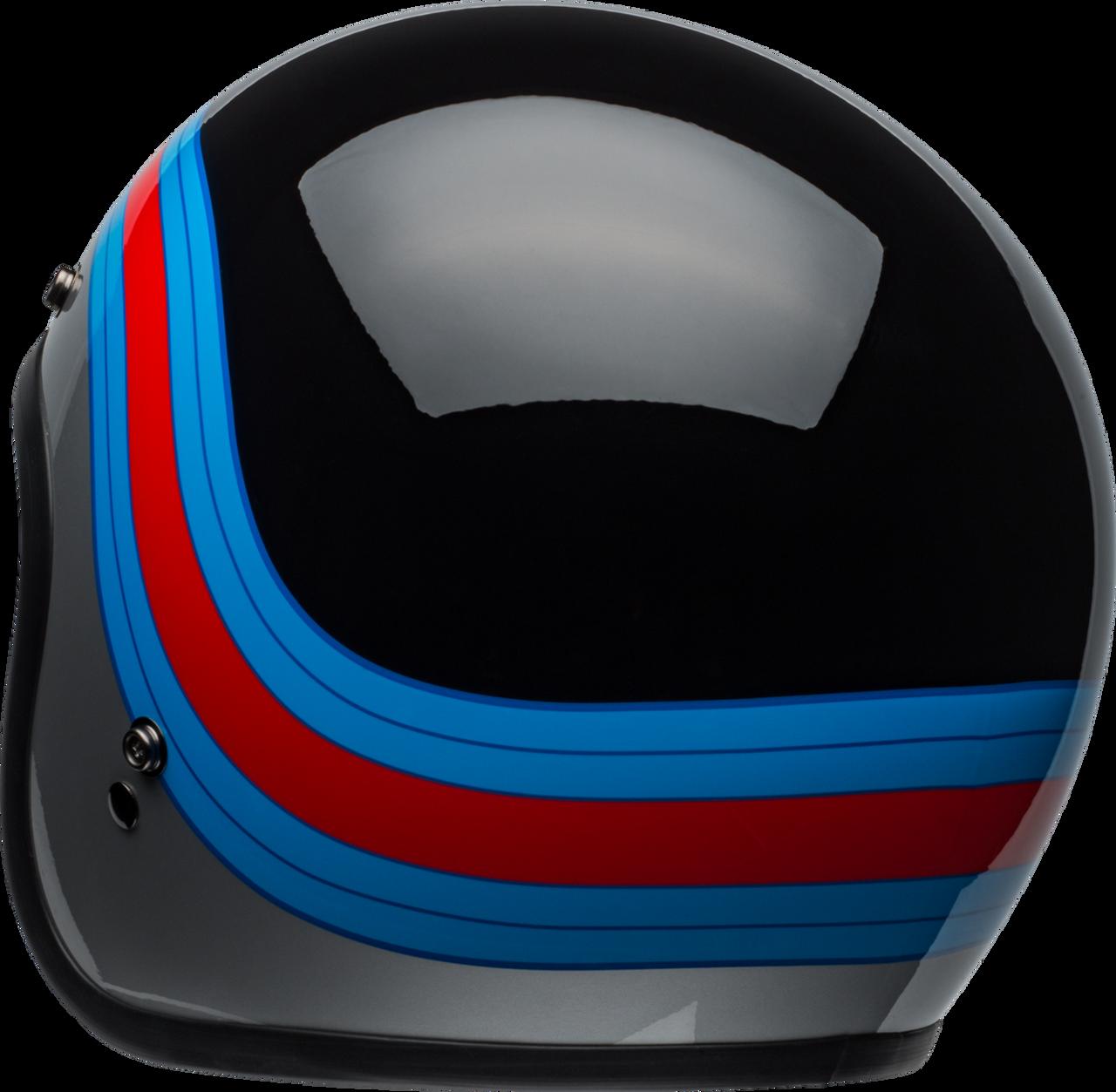 BELL CUSTOM 500 PULSE GLOSS BLACK/BLUE/RED